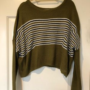Urban Outfitters Olive Green Striped Sweater